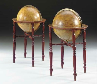A PAIR OF REGENCY LIBRARY GLOB