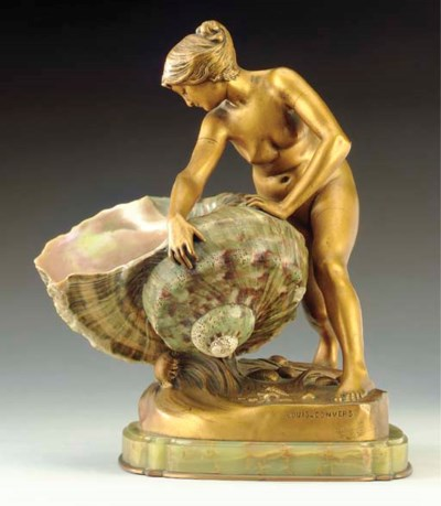 A French gilt-bronze figure of