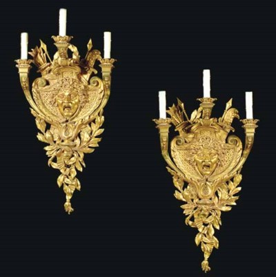 A pair of large Baroque style