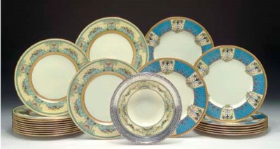 EIGHT LENOX ART DECO PLATES
