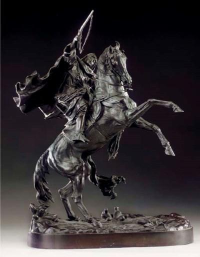 A Russian bronze equestrian gr