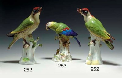A PAIR OF MEISSEN MODELS OF PO