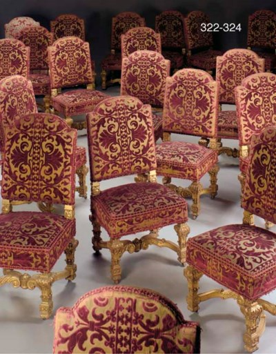 A set of six Louis XIV style g