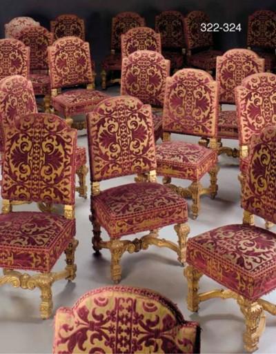 A set of seven Louis XIV style