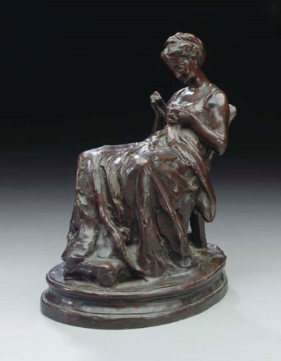 A French bronze sketch model e
