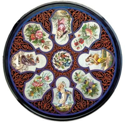A Roman micromosaic circular t