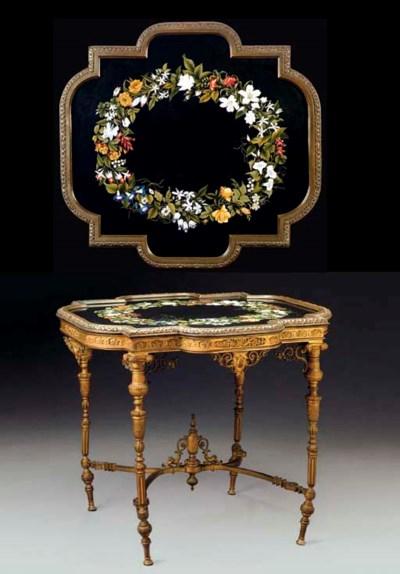 A French ormolu and Florentine