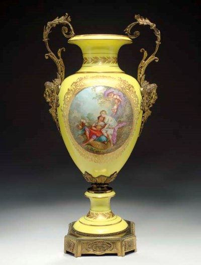 AN ORMOLU MOUNTED SEVRES STYLE