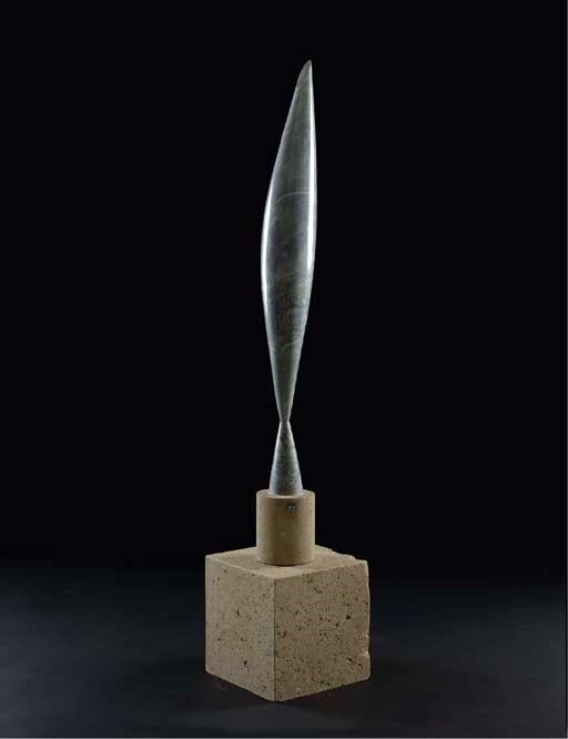 Constantin Brancusi (1867-1957), Oiseau dans lespace, 1922-1923. Overall 48  in (121.9  cm). Sold for $27,456,000 on 4 May 2005 at Christie's in New York © Succession Brancusi - All rights reserved. ADAGP, Paris and DACS, London 2018