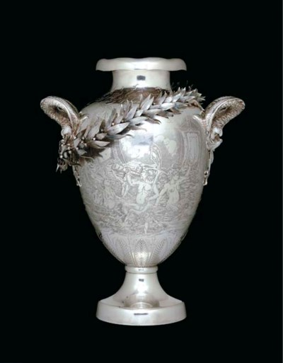 A SILVER YACHTING TROPHY
