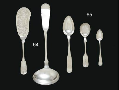 A GROUP OF SILVER SPOONS OF SO