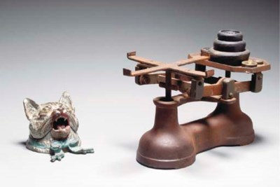 AN IRON BALANCE SCALE AND WEIG