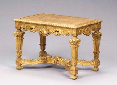 A LOUIS XIV STYLE CARVED GILTW