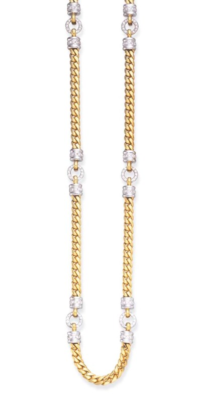 A DIAMOND AND GOLD LONGCHAIN N