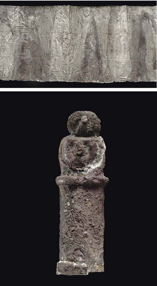 A PHOENICIAN SILVER PHYLACTERY