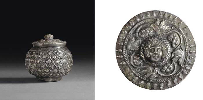 A SOUTH ARABIAN SILVER LIDDED