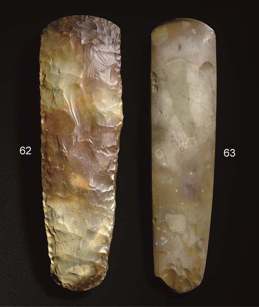 A NEOLITHIC FLINT THIN-BUTTED AXE