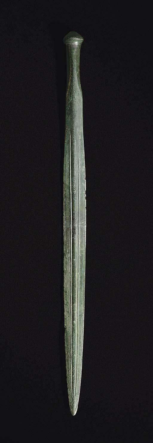 A EUROPEAN BRONZE SWORD