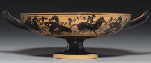 AN ATTIC BLACK-FIGURED KYLIX