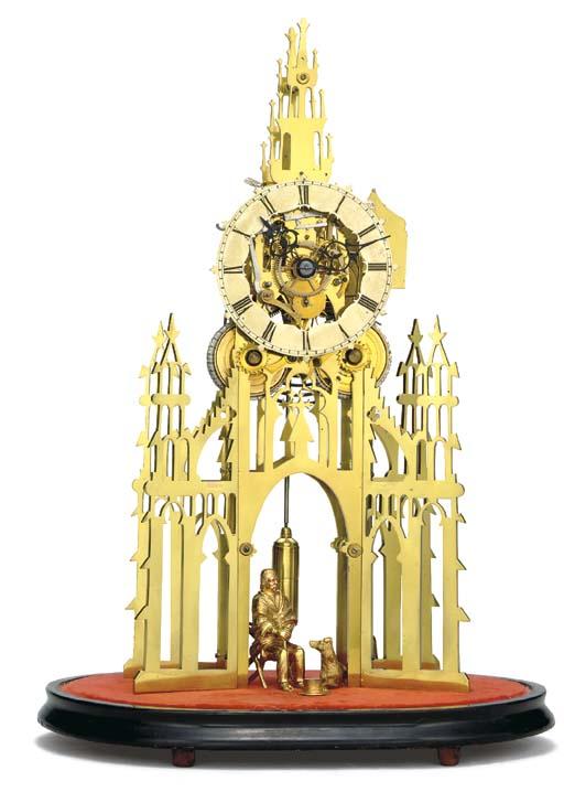 A Victorian brass Scott Monume