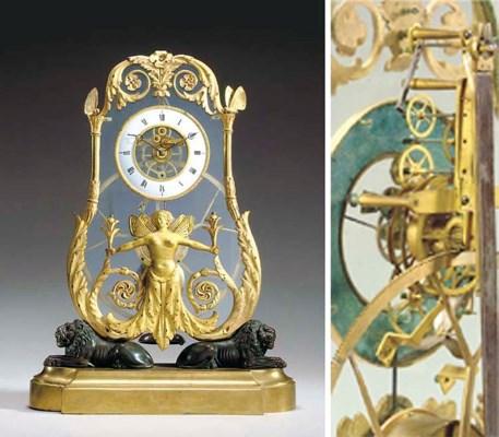 An Austrian brass, ormolu, bro