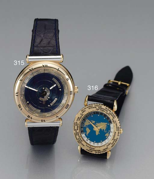 ULYSSE NARDIN. A RARE LIMITED EDITION 18K TWO-TONE GOLD AUTOMATIC ASTRONOMICAL WRISTWATCH