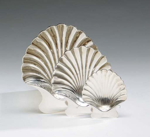 FIVE AMERICAN SILVER SHELL-FOR