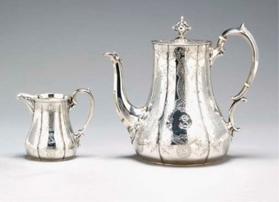 A VICTORIAN SILVER TEA AND COF