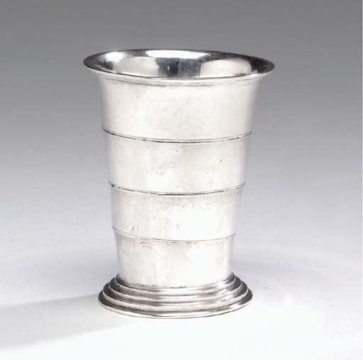 A GERMAN SILVER COLLAPSIBLE BE