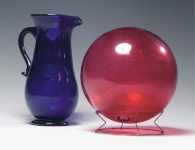 A GROUP OF AMERICAN GLASS TABL