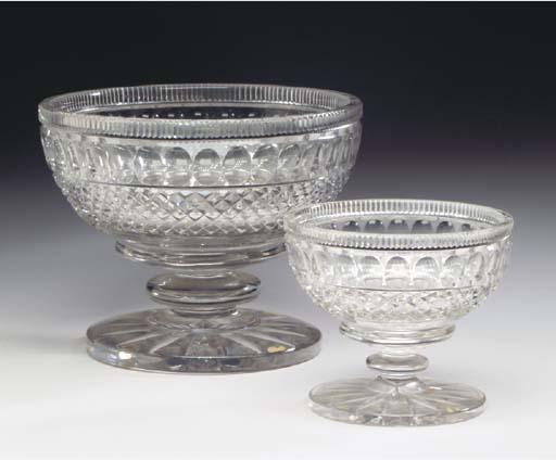 A VICTORIAN CUT-GLASS TABLE GA