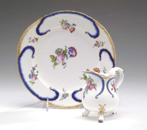 A GROUP OF SEVRES PORCELAIN TA
