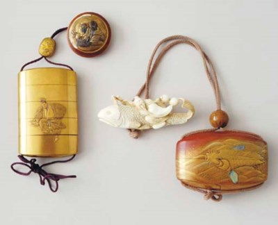 A GROUP OF JAPANESE LACQUER IN