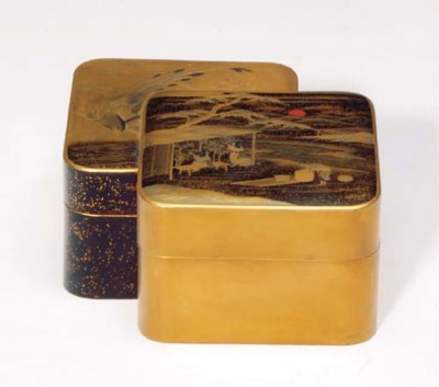 A GROUP OF JAPANESE LACQUER BO