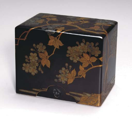 SIX JAPANESE LACQUER BOXES**,