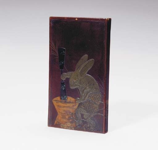 A JAPANESE LACQUER STORAGE BOX