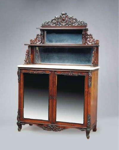 A ROCOCO REVIVAL CARVED SATINW