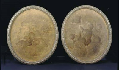 A PAIR OF LOUIS XVI STYLE OVAL