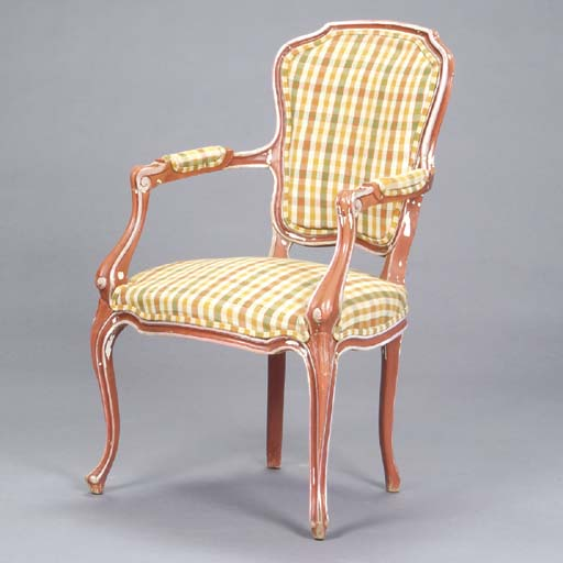 A PAIR OF LOUIS XV STYLE RED A