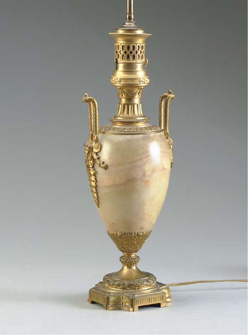 A NAPOLEION III ONYX AND GILT