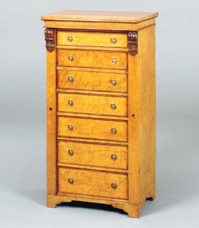 A VICTORIAN BIRDSEYE MAPLE AND
