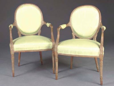 A PAIR OF GEORGE III LIME-WASH