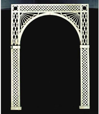 A WHITE-PAINTED LATTICE-WORK A
