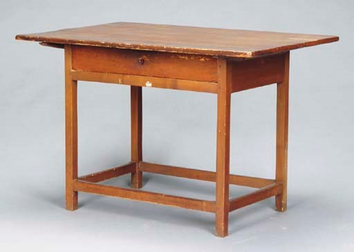 AN AMERICAN PINE TAVERN TABLE