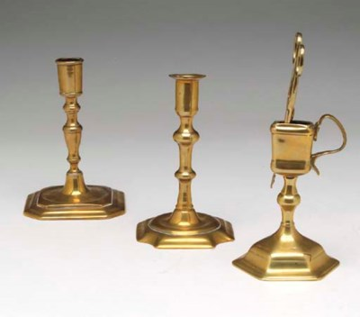 A GROUP OF SEVEN ENGLISH CANDL