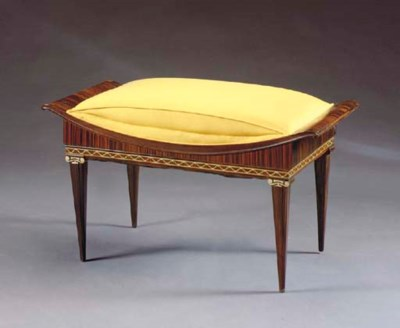 AN ART DECO ROSEWOOD AND IVORY