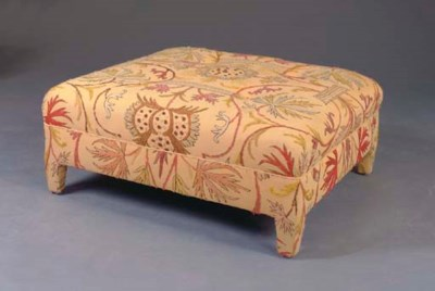 A CONTEMPORARY CREWELWORK UPHO