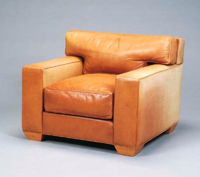 A PAIR OF CONTEMPORARY BROWN L