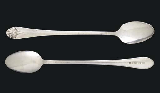 A set of seven parfait spoons