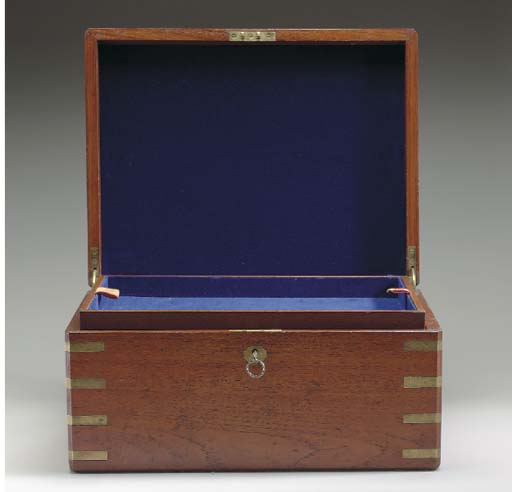 A 19th-Century brass-bound mah